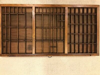 antique typeset letter wood shadow box excellent condition