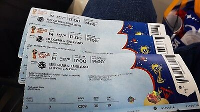 Ticket Used with names Belgium Belgique England Angleterre Game 63 world cup wm