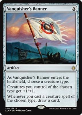 1x VANQUISHER'S BANNER - Rare - Ixalan - MTG - NM - Magic the Gathering