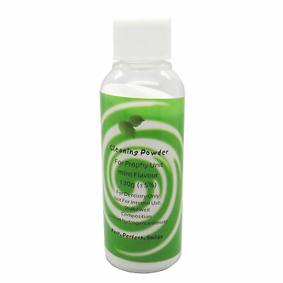 1 bottle 130g Dental Prophy Mate Air Jet Polisher Cleaning Powder Mint Flavor