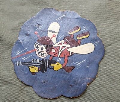 BEAUTIFUL RARE WWII US Army Air Force 87th Fighter Squadron Leather Pilot Patch