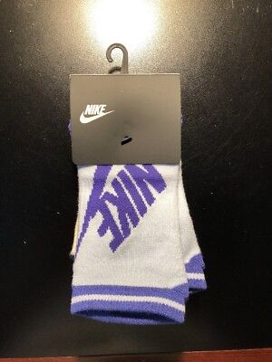 New Nike Women's No Show Socks Size 6-10 Style SX6064-974 Pack Of 3 !