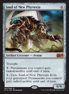1x SOUL OF NEW PHYREXIA - Rare - M15 - MTG - NM - Magic the Gathering