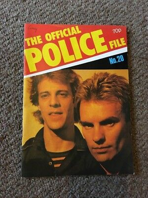 The Police Official File Magazine Issue No.20      December 1981    Sting