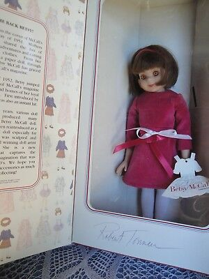 "Vintage 1993 Tonner 14"" Betsy Mccall Doll  In Party Outfit Signed Mib"