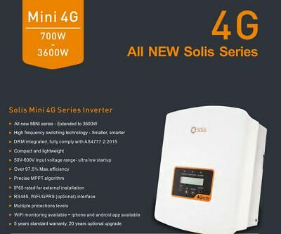 SOLIS 3 KW 1 Phase 2 MPPT Grid Connect Solar Inverter Solis