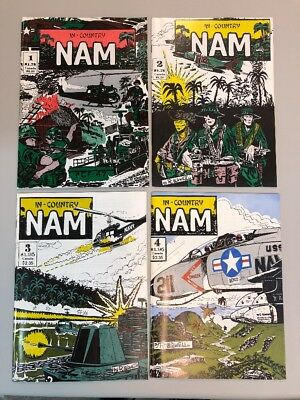 Nam In Country 1-4 Complete Set 1 2 3 4 Full Series Comics 1986