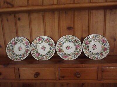 Crown Staffordshire Floral  Saucers X 4
