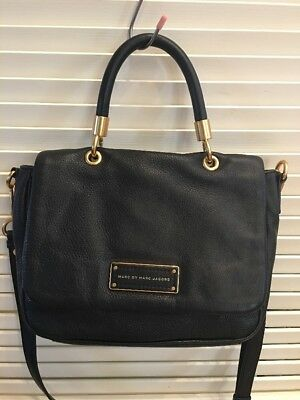 22211fb4f078 MARC By MARC JACOBS TOO HOT TO HANDLE SMALL BAG Black Leather Crossbody  Satchel