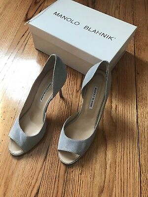 a3f7efb6032 Jimmy Choo Brown Patent Leather Open Toe Pumps Size 40 10.  69.00 0 Bids  21h 57m. See Details. manolo blahnik 40