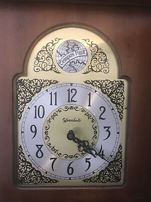 Authentic Herschede Clock Moon Face Circa 1945 Extremely Rare Grandmother Plate