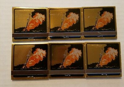 Lot of 6 BOOTS & COOTS INC-Oil Well Fire Fighters Matchbook