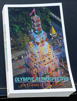 1984 Olympics OFFICIAL REPORT, OLYMPIC RETROSPECTIVE,  LAOOC paperback 596 pages