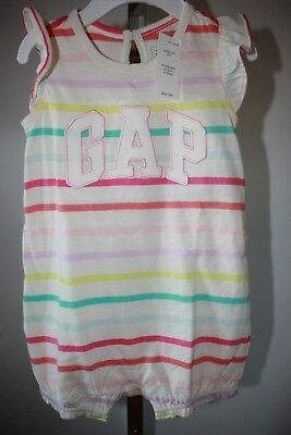 NWT Baby Gap, Baby Girl's 6-12 Mos. Striped Summer Outfit, Cute!
