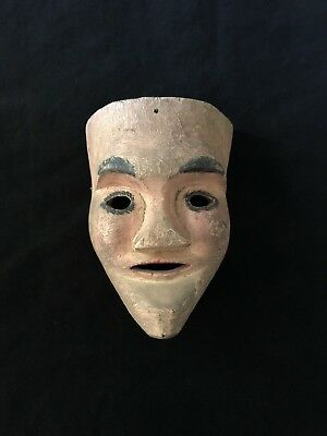 Antique Mask Of Maringuilla Virgin Mary Used By Purepecha Of Michoacan Mexico