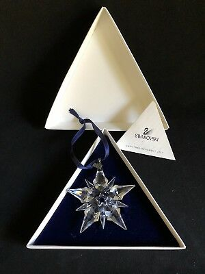 2001 Swarovski Large Crystal Snowflake Christmas Ornament In Box With Coa
