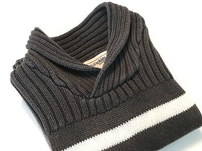 Pullover Sweater-Shawl Collar-Boys Size 3 T-Charcoal Gray And Multi