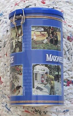MAXWELL HOUSE Coffee Tin with Clasp on Lid