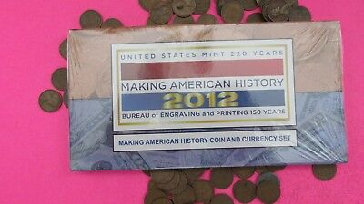 """2012 making american history coin&currency set""""UNOPENED""""plus""""FREEBIES"""""""