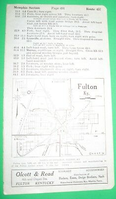1920 BB6 Ad OLCOTT & READ Automobile Distributors Fulton Kentucky with Map