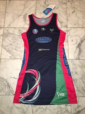 Tags Melbourne Vixens Anz Championship Official Netball Dress Bodysuit Scody 14