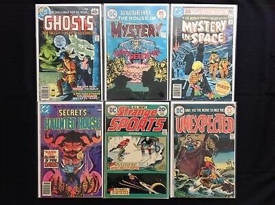 DC BRONZE HORROR Lot of 6 Comic Books - Ghosts, Unexpected, House of Mystery, +!