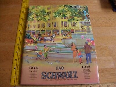 1970-1971 FAO Schwarz Toy catalog Steiff Schucco Marklin model kits Peanuts