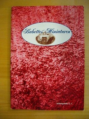 Babettes' Miniaturen Catalog From Germany:  Dollhouse Items