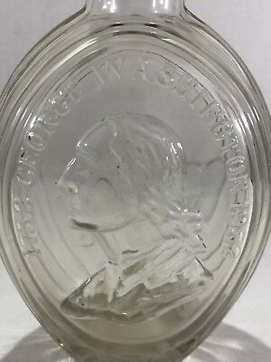 George Washington 1732-1932 Oval Glass Bottle