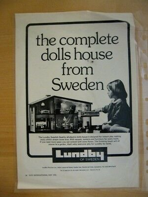 Lundby Of Sweden Dollhouse Ad From Toy International 1976