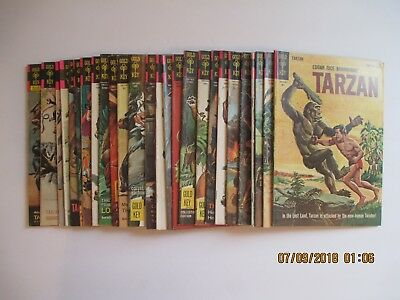 Lot Of (26) Tarzan Comic Books Gold Key Silver Age
