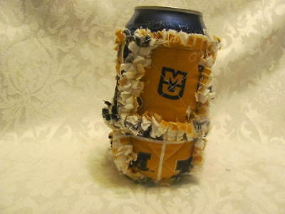 New MU Tigers Inspired 12oz Beer/Pop Can Cover/ Cozie / Rag Quilted