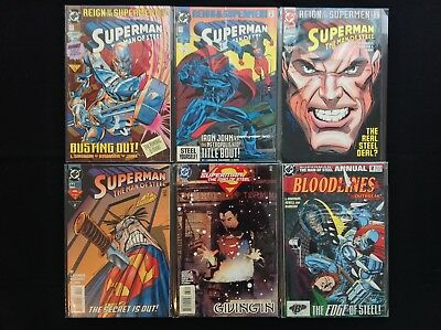 SUPERMAN MAN OF STEEL Lot of 6 DC Comic Books - #22 23 25 44 133 & Annual 2!