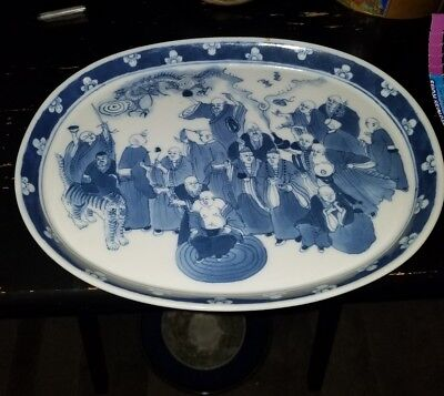 Kangxi Period Chinese Porcelain Blue & White Tray