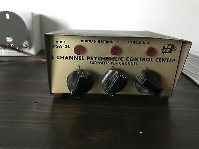 Nowman Electronics Model PSA-3L 3 Channel Psychedelic Control Center Vintage NR