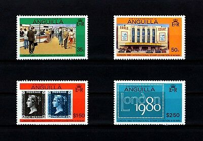 Anguilla - 1979 - London '80 - Penny Black - Earls Court - Mint - Mnh Set!