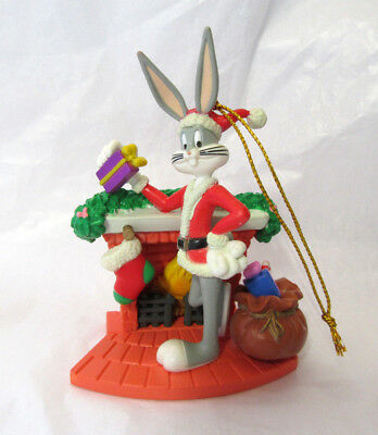 Looney Tunes ~ Bugs Bunny at the Fireplace ~ Christmas Ornament