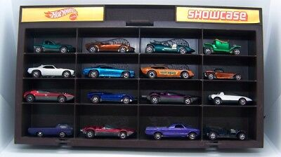 Vintage lot of 16 Hot Wheels diecast Redline cars w/ Vintage Display Case