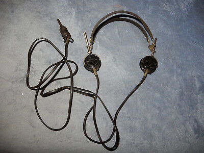Original Us Wwii Headset With Th-37 Receivers