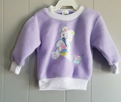 Vintage Infant Girls Purple Sweater 12 months NOS Deadstock NWT