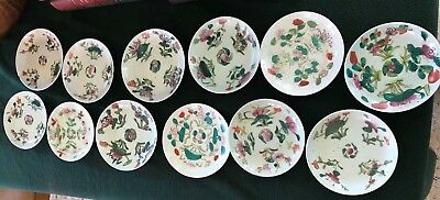 12 pc collection of small antique Chinese porcelain dishes