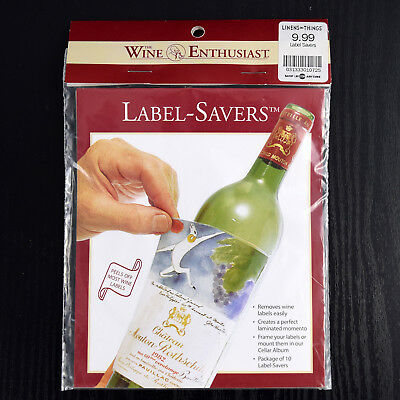 Wine Enthusiast Label Saver for Wine Cellar Album 10 Label-Savers