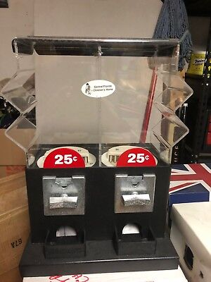 "Vending Machine 18"" Acrylic Coin-Operated Dispenser 25 cent Double Head Vend .25"