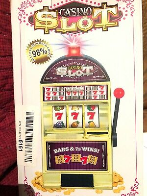 Casino Lucky Slots Jackpot Mini Slot Machine Bank with Spinning Reels