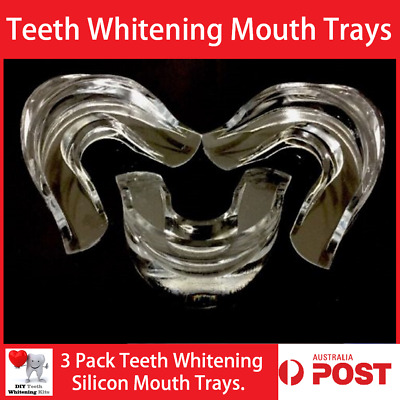 3 Pack Teeth Whitening Silicon Mouth Trays Mouth Guards