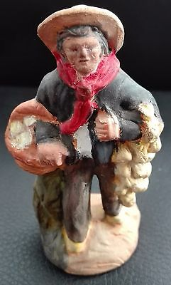France Paul Fouque Aix En Provence Market Man Ceramic Figurine 3.4""