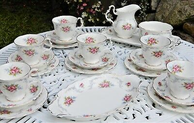 Royal Albert 'Tranquility' Tea set for 6 Persons- Mint unused condition!