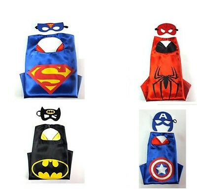 4 Pack Super Hero Dress Up Costumes With Masks and Capes For Kids