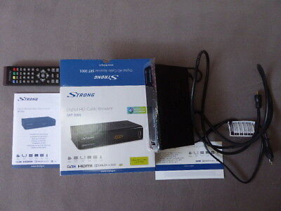 Strong SRT 3001 HD Kabel Receiver (HDTV, DVB-C, Schwarz) Incl. HDMI Kabel