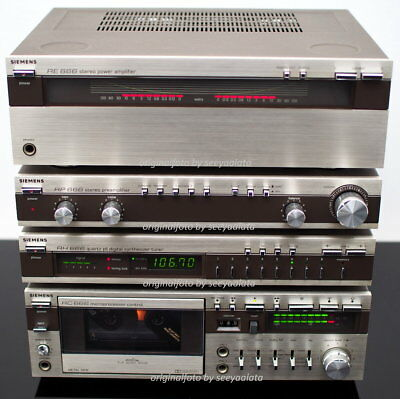 MINT SIEMENS HiFi System 666 microcompact Tape Tuner Pre Poweramp BDA SERVICED!!